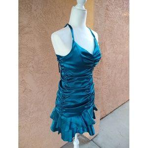 Jessica McClintock | halter satin prom dress